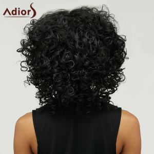 Adiors Medium Afro Curly Inclined Bang Synthetic Wig -