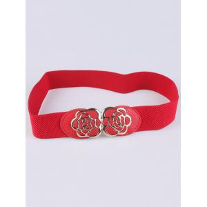 Rose Carve Insert Clasp Buckle Cinch Waist Belt