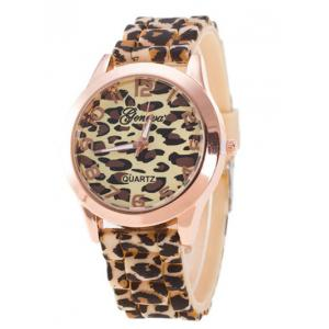 Leopard Silicone Band Quartz Watch - Brown