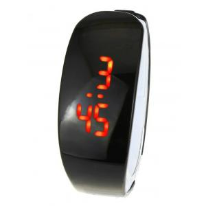 Plastic LED Digital Watch - Black