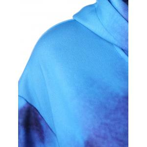 Vortex Tie-Dye Kangaroo Pocket Hoodie - BLUE 4XL