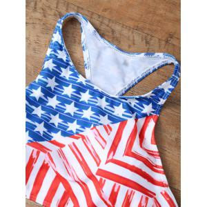 High Neck American Flag Racerback Bikini Set -