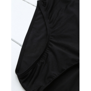 If Lost Letter Unlined One Piece Swimsuit - BLACK M