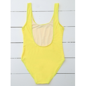 Drunk Spice One Piece Swimsuit - YELLOW L