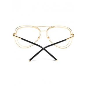 Party Double Rims Transparent Lens Pilot Sunglasses -