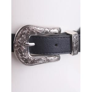 Elastic Waist Belt with Cameo Double Buckle -
