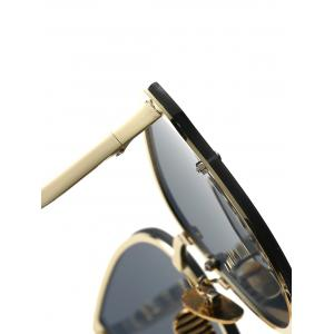 Full Rims Metal Butterfly Sunglasses - BLACK