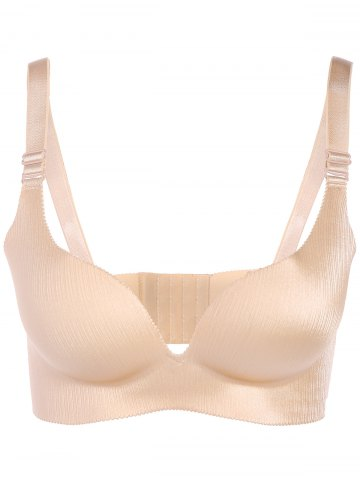 Brief Plus Size Seamless Enfoncer Up Adustable Strap Bra Carnation 85D