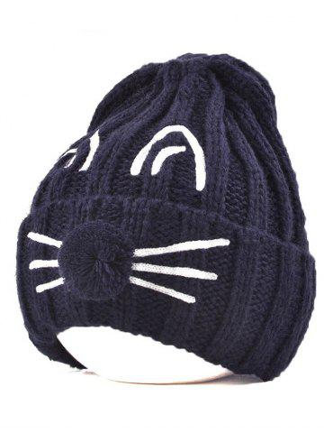 Latest Pom Ball Cat Face Beanie Hat