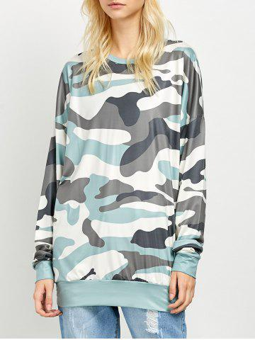 New Camo Long Sleeve Mini Dress