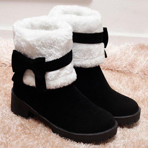 Shops Bowknot Suede Mid Calf Boots