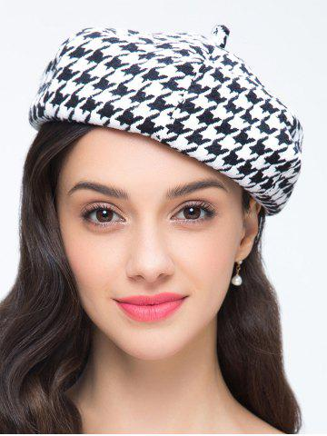 Hot Houndstooth Pattern Painter Beret French Hat