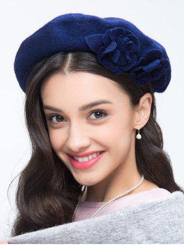 Chic French Painter Beret with Flower