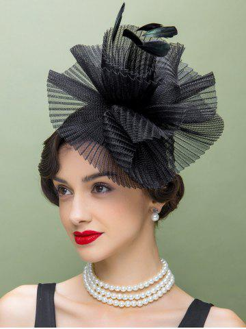 Outfits Feather Lace Trim Hair Clip Church Hat
