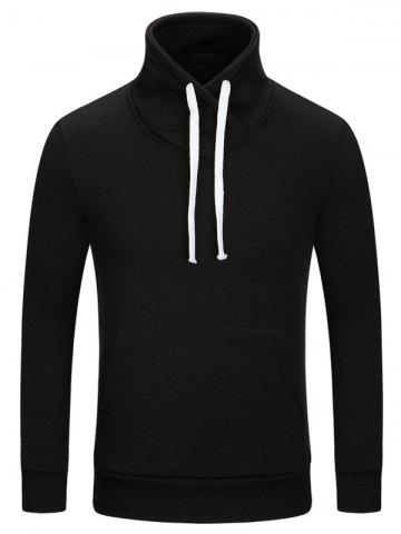 Stand Collar Kangaroo Pocket Sweatshirt
