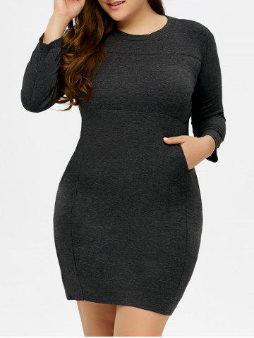 Buy Plus Size Pockets Stretchy Bodycon Dress