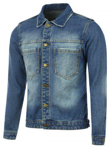 Affordable Pocket Button Up Denim Jacket