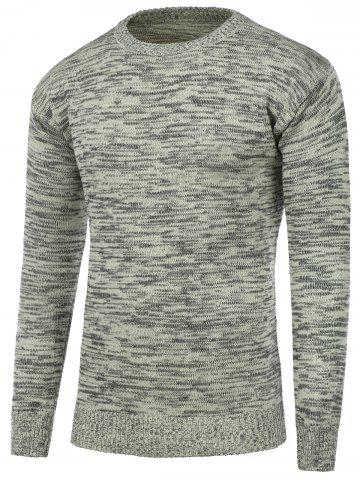 Outfit Crew Neck Space Dye Pullover Sweater