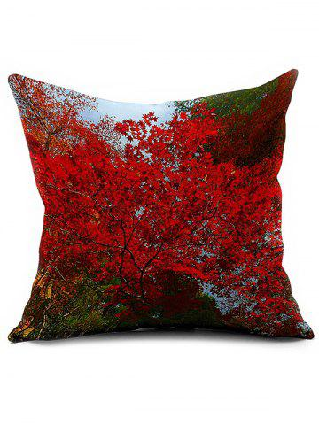 Trendy Floral Printed Linen Home Decor Throw Pillowcase COLORMIX