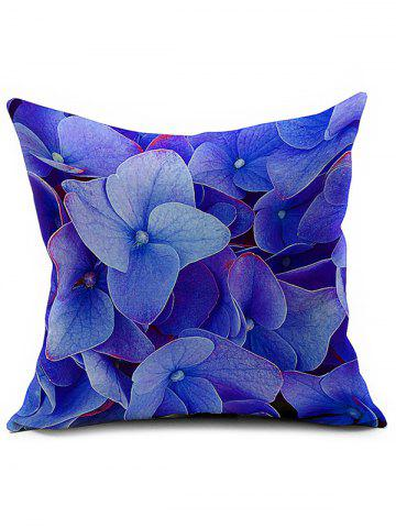 Outfit Floral Printed Linen Home Decor Throw Pillow Case BLUE