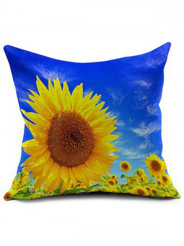 Online Sunflower Chair Sofa Backrest Cushion Throw Pillow Cover COLORMIX