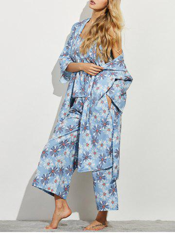 Outfit Daisy Print Three Piece Loungewear