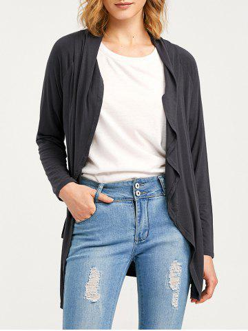 Shops Raglan Sleeve Pocket Draped Coat - XL DEEP GRAY Mobile
