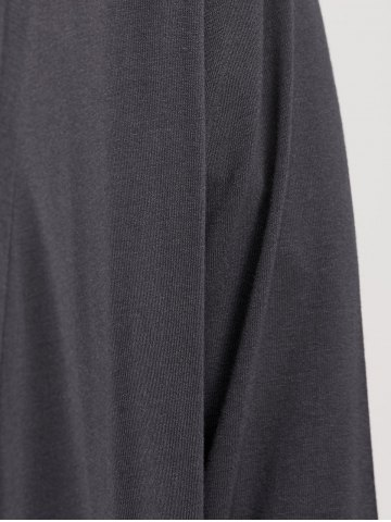 Shop Raglan Sleeve Pocket Draped Coat - XL DEEP GRAY Mobile