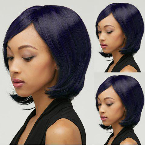 New Short Shaggy Straight Oblique Bang Synthetic Wig