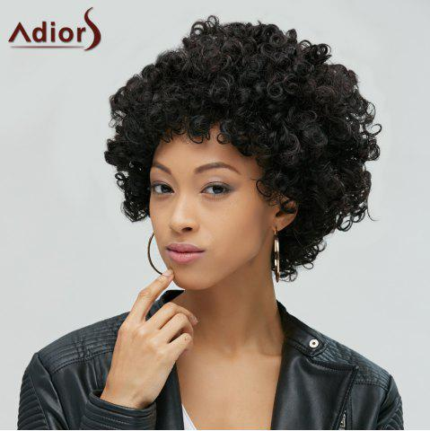 New Short Shaggy Full Bang Afro Curly Synthetic Hair Wig