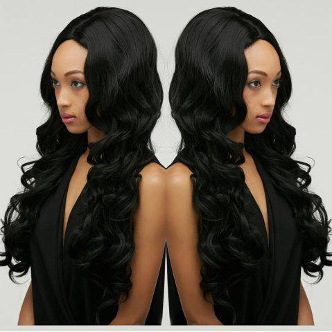 Fashion Long Shaggy Wavy Centre Parting Synthetic Wig