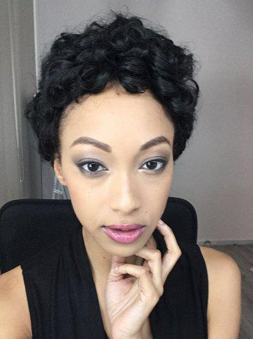 Affordable Short Shaggy Curly Synthetic Wig