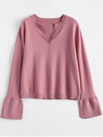 New Flare Sleeve Simple Desigh Knitwear