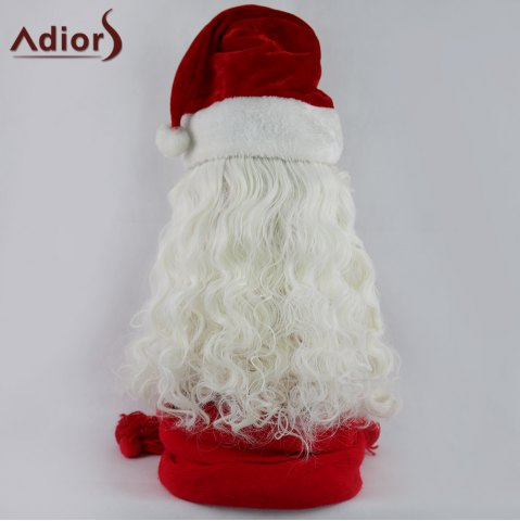 Online Adiors Christmas Party Santa Claus Beard and Wig Set - WHITE  Mobile