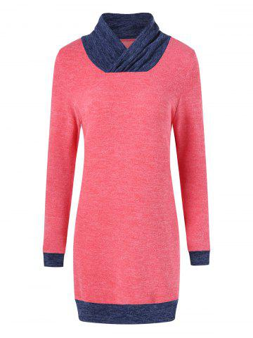 Outfits Elbow Patch Longline Knitwear BLUE/RED XL