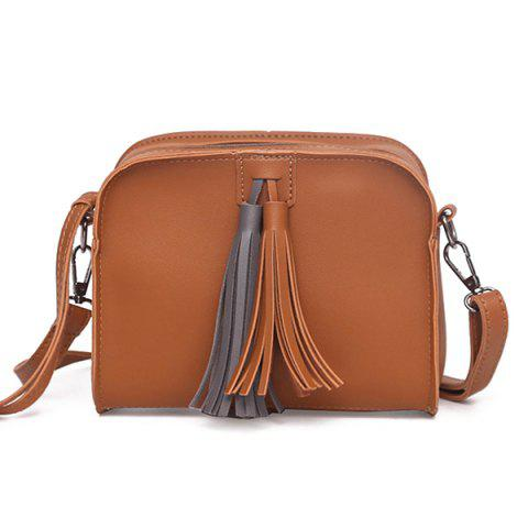 Outfit Zip Tassels PU Leather Crossbody Bag