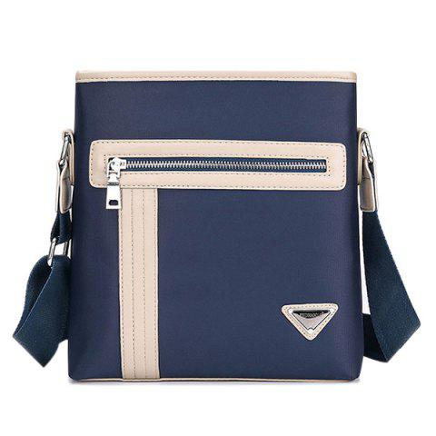 Hot Colour Block Stitching Zippers Crossbody Bag