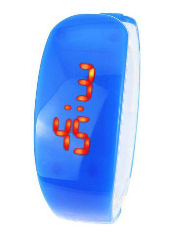 Online Plastic LED Digital Watch - BLUE  Mobile