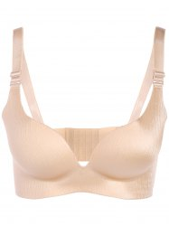 Brief Plus Size Seamless Enfoncer Up Adustable Strap Bra - Carnation 85D