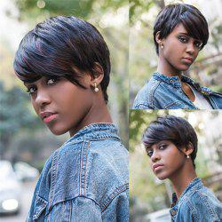 Fashion Short Pixie Cut Straight Capless Mixed Color Synthetic Wig For Women