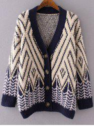Striped Fluffy Open Cardigan -