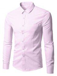Long Sleeve Button Up Plain Shirt