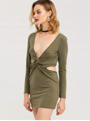 Low Cut Bodycon Club Dress -