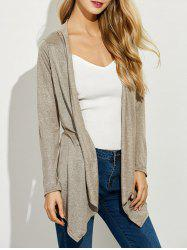 Asymmetrical Open Front Cardigan