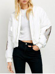 Zipped Wing Embroidered Jacket -