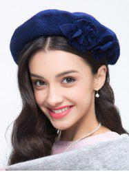 French Painter Beret with Flower -
