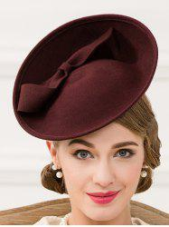 Bowknot Fascinator Cocktail Hairband Hat - BORDEAUX