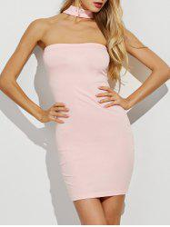 Mini Strapless Tight Club Choker Dress