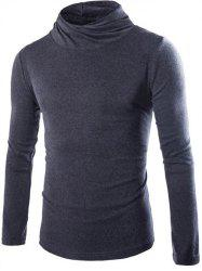 Slim Fit High Neck Pullover Knitwear -