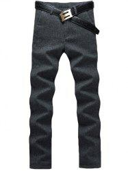 Zip Fly Straight Leg Heather Pants